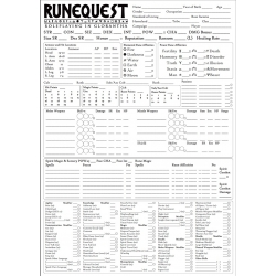 A3 RuneQuest Glorantha Character sheet