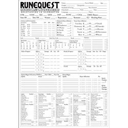 A3 RuneQuest Glorantha Character sheet