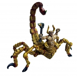 Scorpion Man with spiked hammer