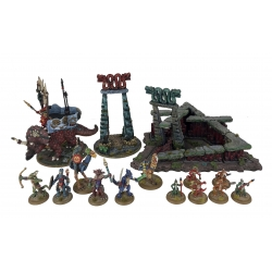 All the Dragonewt models, including scenery