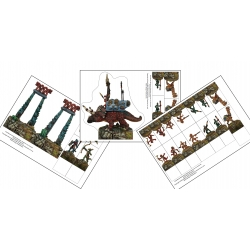 RuneQuest Dragonewt Stand-Up miniatures PDF