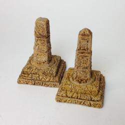 Stone Monoliths on Plinths
